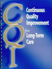 Cover of: Continuous quality improvement for long-term care |