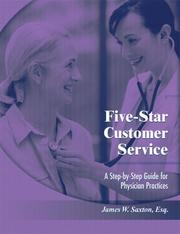 Cover of: Five-star Customer Service | James W. Saxton