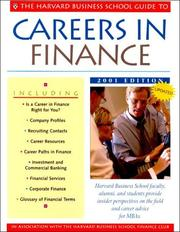 Cover of: The Harvard Business School Guide to Careers in Finance 2001 (A Harvard Business School Career Guide) | Harvard Business Reference