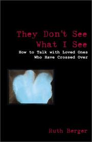 Cover of: They Don't See What I See