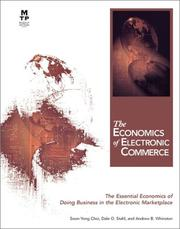Cover of: The economics of electronic commerce