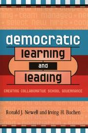 Cover of: Democratic Learning and Leading | Newell Ronald J.