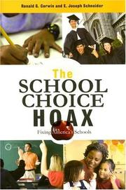 Cover of: The School Choice Hoax | Ronald G. Corwin