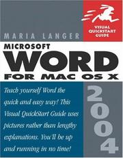 Cover of: Microsoft Word 2004 for Mac OS X | Maria Langer