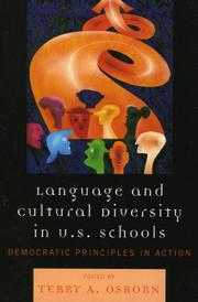 Cover of: Language and Cultural Diversity in U.S. Schools