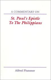 Cover of: A Commentary on St. Paul¹s Epistle to The Philippians