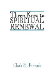 Cover of: Three Keys to Spiritual Renewal
