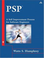Cover of: PSP(sm): A Self-Improvement Process for Software Engineers (SEI Series in Software Engineering)