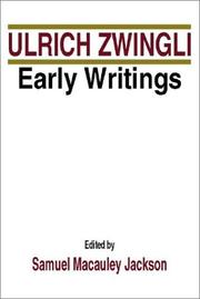 Cover of: Ulrich Zwingli Early Writings