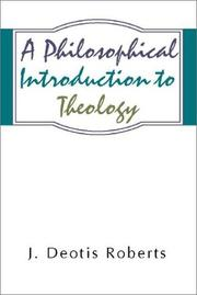Cover of: A philosophical introduction to theology