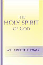 Cover of: The Holy Spirit of God