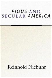 Cover of: Pious and secular America