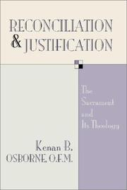 Cover of: Reconciliation and Justification
