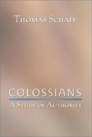Cover of: Colossians | Thomas Schaff