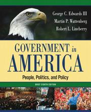 Cover of: Government in America: people, politics, and policy