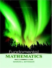 Cover of: Fundamental mathematics