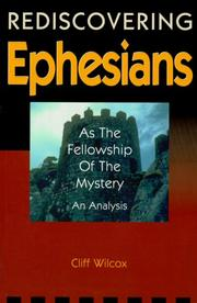 Cover of: Rediscovering Ephesians as the fellowship of the mystery