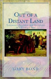 Cover of: Out of a Distant Land | Gary Bond