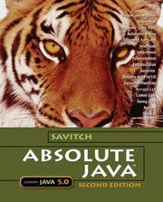 Cover of: Absolute Java | Walter J. Savitch