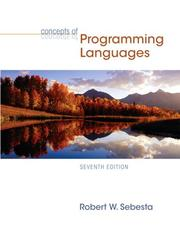 Cover of: Concepts of programming languages | Robert W. Sebesta