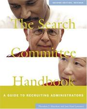 Cover of: The search committee handbook
