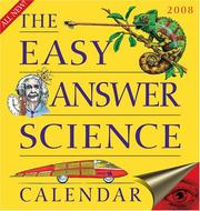 Cover of: The Easy Answer Science Calendar 2007 Day-to-Day Calendar