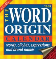 Cover of: The Word Origin