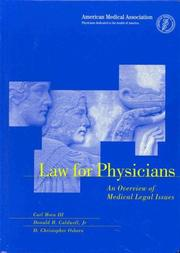 Cover of: Law for Physicians | Carl Horn