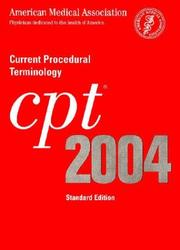Cover of: Cpt 2004 Current Procedural Terminology | American Medical Association.