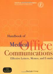 Cover of: Handbook of Medical Office Communications