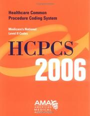 Cover of: HCPCS 2006 Medicare