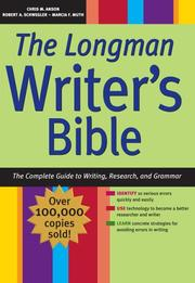Cover of: The Longman writer's bible