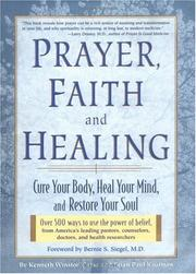 Cover of: Prayer, faith, and healing