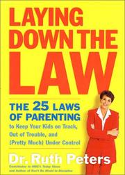 Cover of: Laying down the law | Ruth Allen Peters