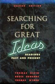Cover of: Searching for Great Ideas | Tom Klein