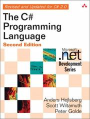 Cover of: C# Programming Language, The (2nd Edition) (Microsoft .NET Development Series) | Anders Hejlsberg