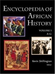 Cover of: Encyclopedia of African history |