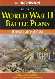 Cover of: The Hutchinson Atlas of World War II Battle Plans