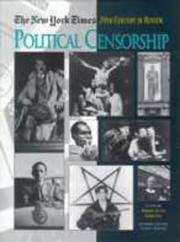 Cover of: Political censorship |