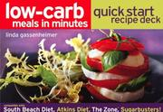 Cover of: Low-Carb Meals in Minutes Quick Start Recipe Deck