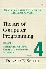 Cover of: Art of Computer Programming, Volume 4, Fascicle 4,The: Generating All Trees--History of Combinatorial Generation (Art of Computer Programming)