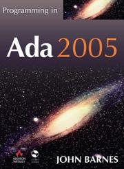Cover of: Programming in Ada 2005 with CD