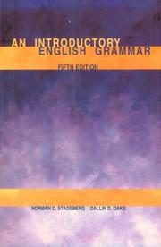 Cover of: An introductory English grammar