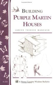 Cover of: Building purple martin houses