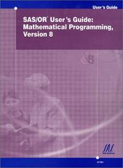Cover of: SAS/OR user