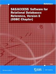 Cover of: SAS/ACCESS Software for Relational Databases