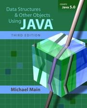 Cover of: Data structures and other objects using Java | M. Main
