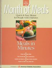 Cover of: Meals in minutes