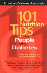 Cover of: 101 Nutrition Tips For People with Diabetes | Patricia Bazel Geil