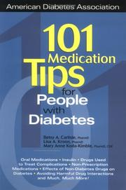 Cover of: 101 Medication Tips for People With Diabetes (American Diabetes Association & American Dietetic Association) | Betsy Carlisle